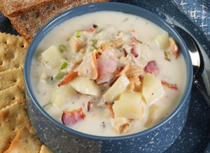 Applewood Smoked Bacon Clam Chowder