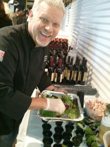 Chef Dave Martin preparing Nueske's Applewood Smoked Chicken Salad