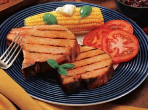 Nueske's Applewood Smoked Bone-In Pork Chops