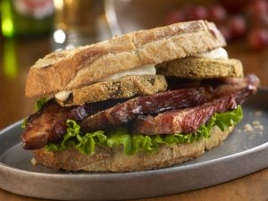 Nueske's Braised Bacon & Fried Green Tomato BLT.