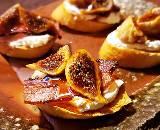 New Year's Apps: Nueske's Bacon & California Fig Toasts